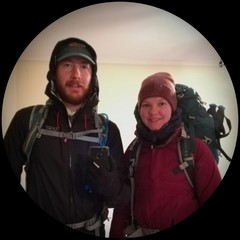 Kevin and Franziska in full hiking gear