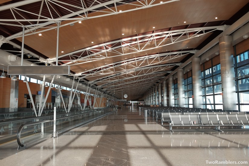 Empty, new airport terminal