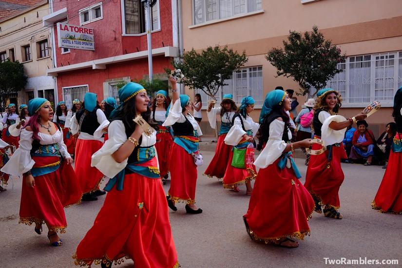 Women dressed up in Esmeralda comstumes