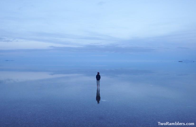 The Salar de Uyuni in rain season - A surreal world