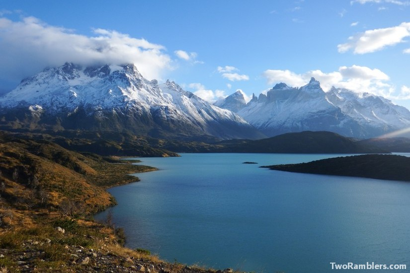 Torres del Paine, Lago Pehoe, Paine Grande mountain
