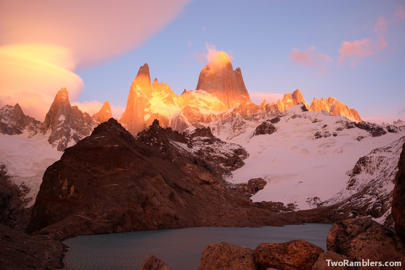Sunrise over Mount Fitz Roy, El Chalten