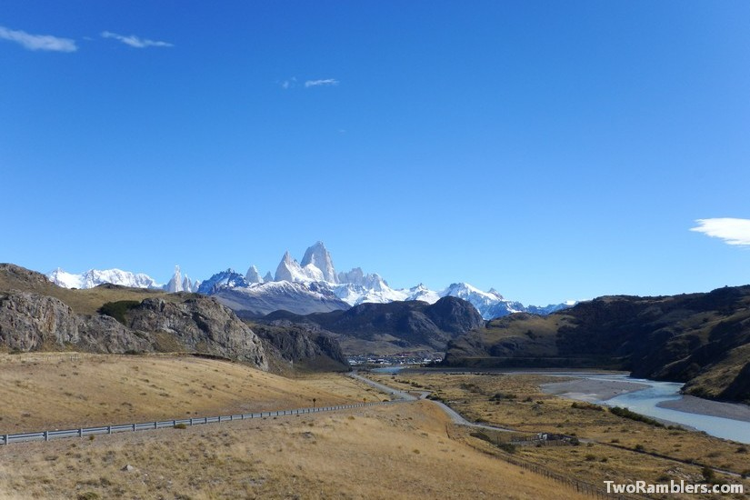 First view on Mount Fitz Roy, El Chalten