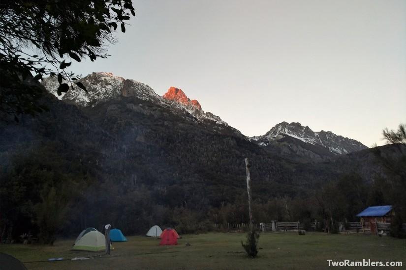 Camping at Refugio El Retamal, El Bolson, Argentina