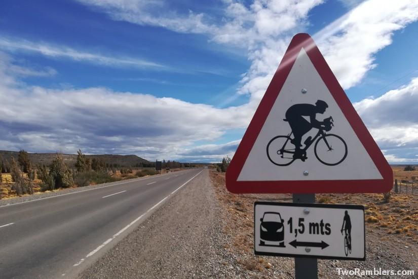 Road sign, Ruta 40, Argentina