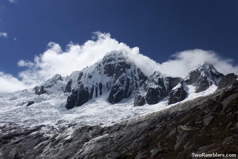 Snowy mountains, Punta Union, Santa Cruz Trek, Peru