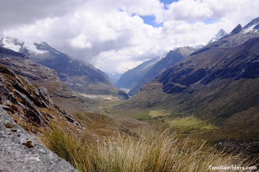 View from Punta Union pass, Santa Cruz Trek, Peru