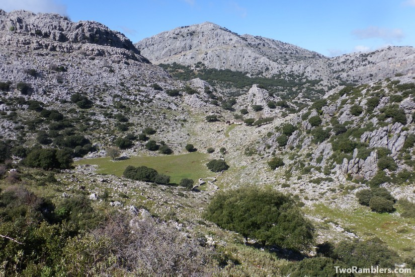 rocky valley with ruins, Andalucía