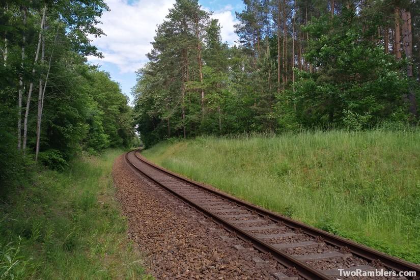 Train tracks to Bad Saarow, Brandenburg