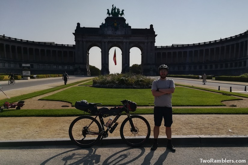 Arcades du Cinquantenaire Brussels. start of bikepacking from Brussels to Berlin